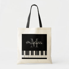 Custom Piano Keys Tote Bag For Teacher And Student at Zazzle