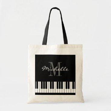 logotees Custom piano keys tote bag for teacher and student