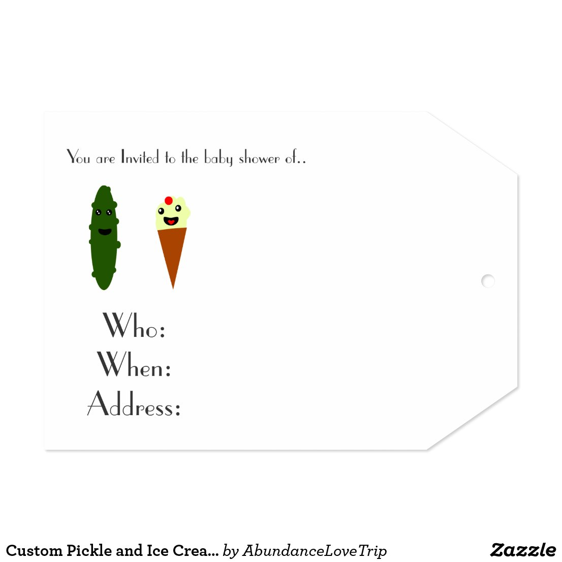 Custom Pickle and Ice Cream Invites