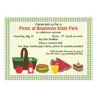 Custom Picnic at the Park Announcement