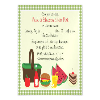 Custom Picnic at the Park Magnetic Card