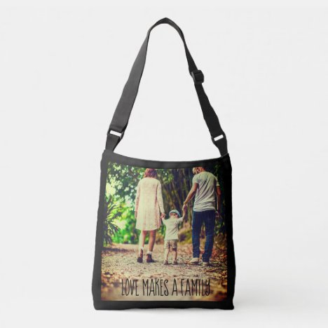 Custom picture and text crossbody bag