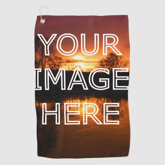 Custom Picture Personalized Photo Golf Towel
