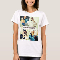 Custom pictures x4 with text T-Shirt