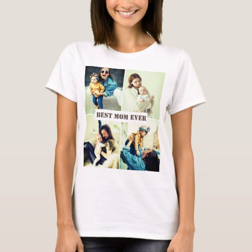 Custom pictures x4 with text T_Shirt
