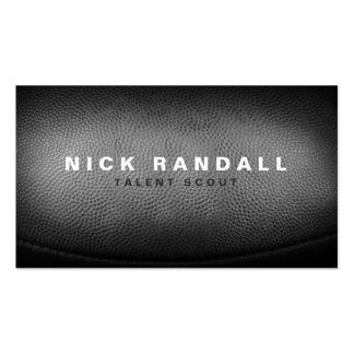 Custom Pigskin Football Texture Masculine Business Business Cards