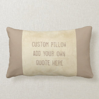 custom pillow add your own quote