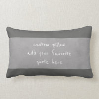 custom pillow add your own quote distressed gray