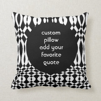 custom pillow add your quote bold black and white