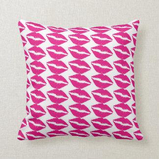 custom pillow--valentines LIPS Throw Pillow