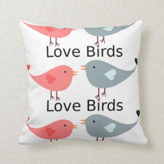custom pillow--valentines LOVE BIRDS Throw Pillow