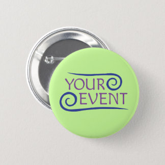 Custom Pinback Button Pin with Company Event Logo