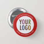 "Custom Pinback Button with Company Logo No Minimum<br><div class=""desc"">Easily personalize this custom pinback button pin with your own company logo and brand message. This is a promotional button for marketing your business for networking, trade show giveaways, conferences, and other corporate events. You can easily change the border color by customizing the background color so try matching it to...</div>"