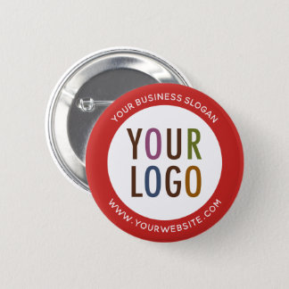 Custom Pinback Button with Company Logo No Minimum