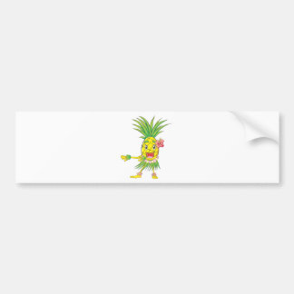 Custom Pineapple Hula Dancer Dancing Bumper Sticker