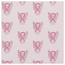 Custom Pink Awareness Ribbon Breast Cancer Fabric