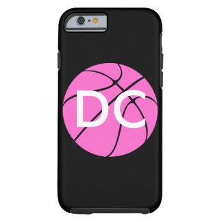 Custom Pink Basketball Tough iPhone 6 Case