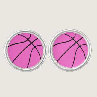 Custom Pink Basketball Cufflinks