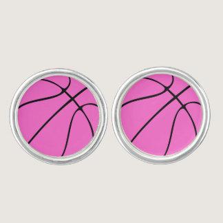 Custom Pink Basketball Cufflinks