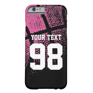 Custom pink basketball jersey number iPhone case Barely There iPhone 6 Case