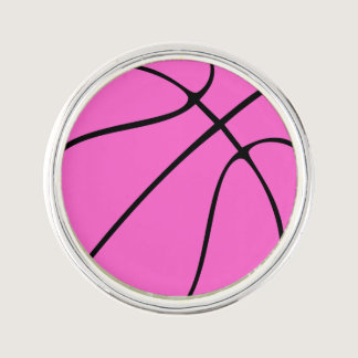 Custom Pink Basketball Lapel Pin