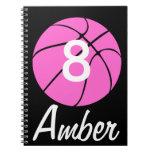 Custom Pink Basketball Notebooks