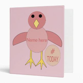 Custom Pink Birthday Girl Chick Binder