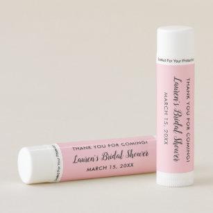 custom pink bridal shower favors lip balm