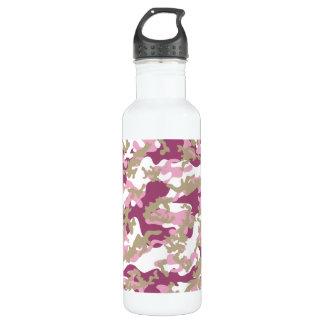 Custom Pink Camo Aluminum Water Bottle