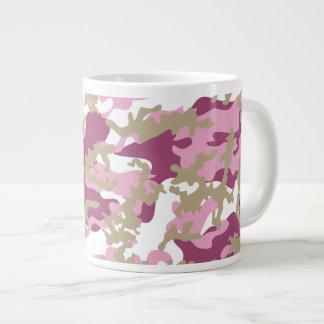Custom Pink Camo Glass Jumbo Mug