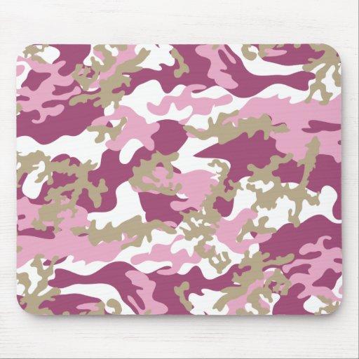 Custom Pink Camo Mousepad