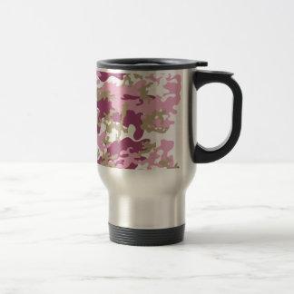 Custom Pink Camo Stainless Steel Travel Mug