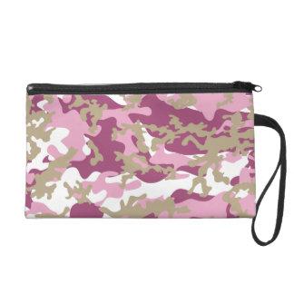 Custom Pink Camo Wristlet Bag