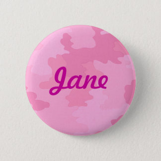 Custom Pink Camouflage Button