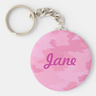 Custom Pink Camouflage Key Chain
