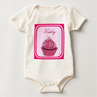 Custom Pink Cupcake Baby Bodysuit