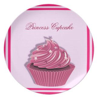Custom Pink Cupcake Party Plates