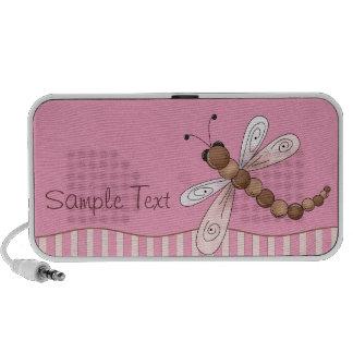 Custom Pink Dragonfly Mini Speakers