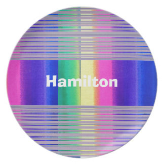 Custom Pink, Green, Yellow and Lavender Tie Dye Pl Dinner Plates