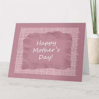 Custom Pink Happy Mother's Day Giant Greeting Card