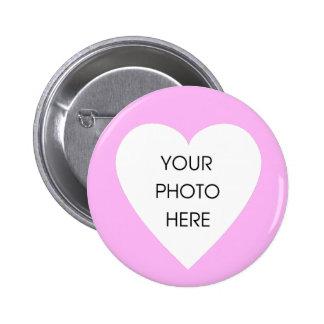 Custom Pink Heart Border ... - Customized Button
