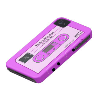 Custom Pink Mix-Tape Blackberry Bold Covers