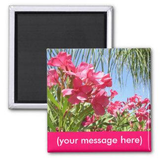 Custom Pink Oleander Magnet