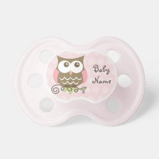 Custom Pink Owl Pacifier BooginHead Pacifier