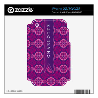 Custom Pink Purple TIle Skins For iPhone 2G