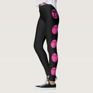 Custom Pink Softball Leggings