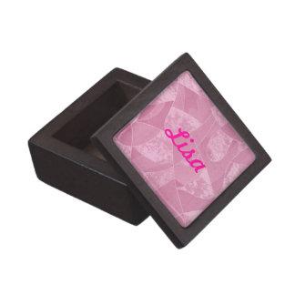 Custom Pink Stain Glass Keepsake Box