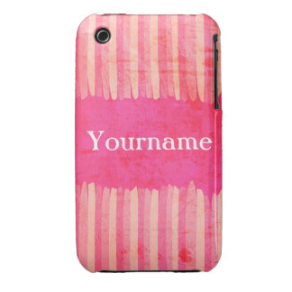 Custom Pink Strokes iPhone 3 Case-Mate Cases
