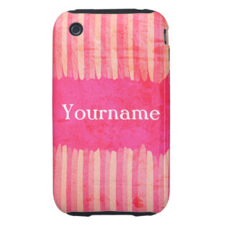Custom Pink Strokes iPhone 3 Tough Cases