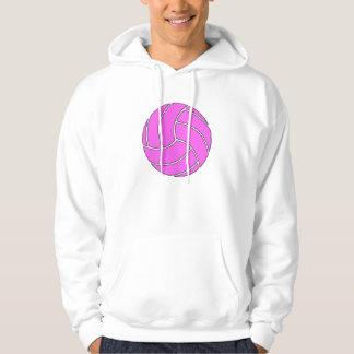 Custom Pink Volleyball Hoodie